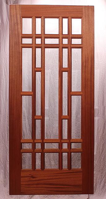 The Iris Garden Dining Room Door eclectic-windows-and-doors