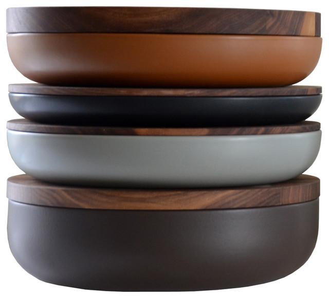 VVD Pottery -Walnut contemporary-serving-bowls