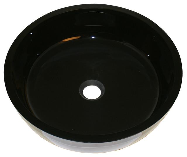 Black Round Kitchen Sink : ... Black Round Glass Vanity Vessel Sink - Modern - Bathroom Sinks - by