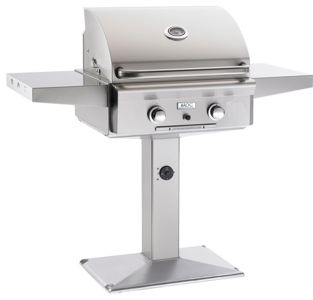 Pedestal Post Liquid Propane Grill contemporary-grills