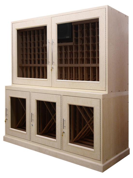 Custom Wood Wine Storage Hutch -