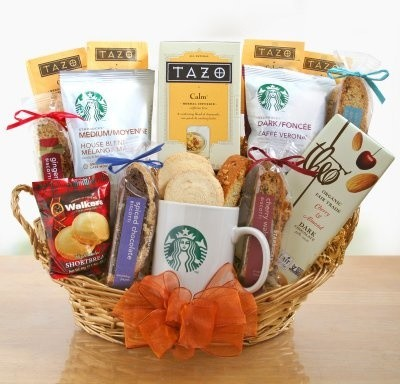 Starbucks Coffee and Tea Delights Gift Basket - Modern - Coffee And Tea Makers - by Hayneedle
