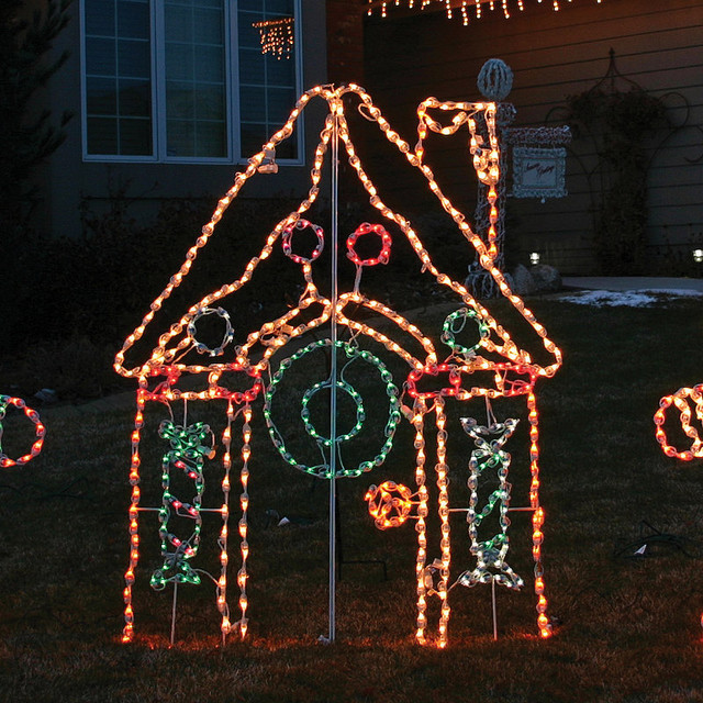 Lighted Outdoor Gingerbread House