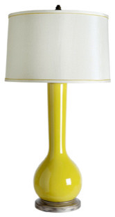 Ceylon Lamp, Yellow eclectic table lamps