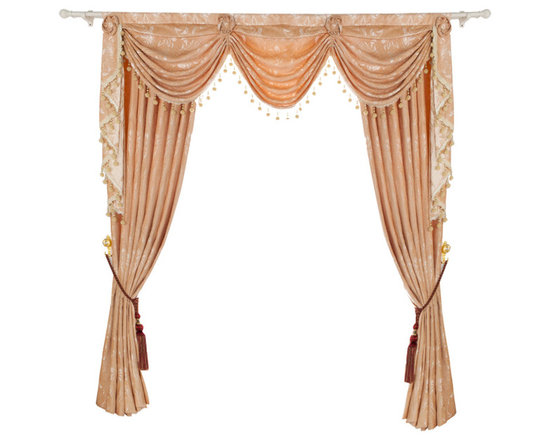 """Ulinkly.com - Luxurious window curtain - Creamy Touch, 54""""*84"""", 2 Panels with Valance - This price includes 2 panels and valance."""