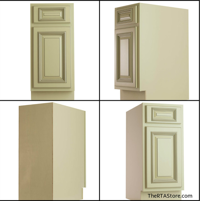 Vintage White Cabinets Base Cabinets traditional-kitchen-cabinets