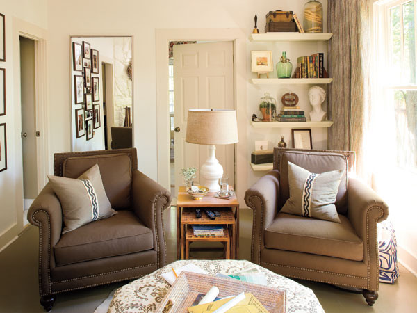 Chic, Functional Den - MyHomeIdeas.com
