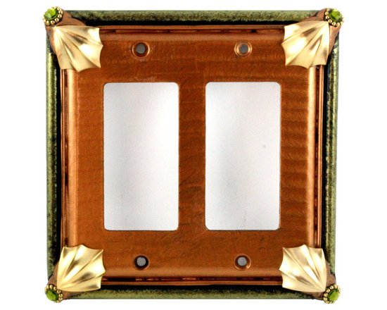 Cleo Double Decora Light Switch Cover Amber -