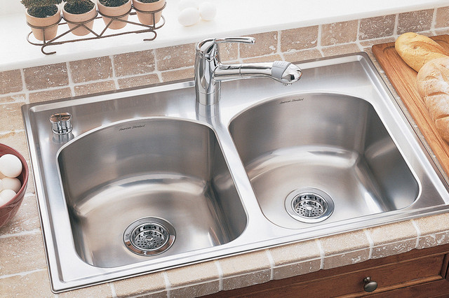 Drop In Kitchen Sink : ... Drop In 50/50 Stainless Steel Kitchen Sink - Modern - Kitchen Sinks