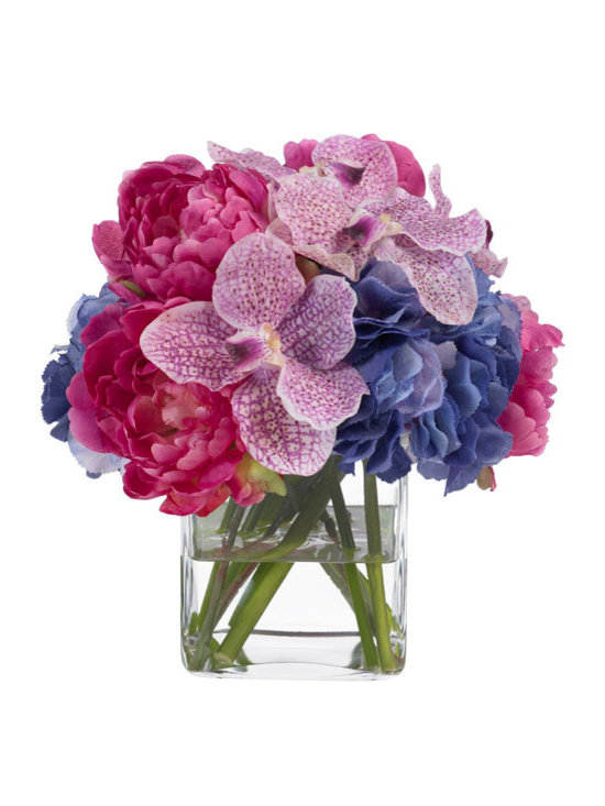 Peony, Orchid and Hydrangea Bouquet -