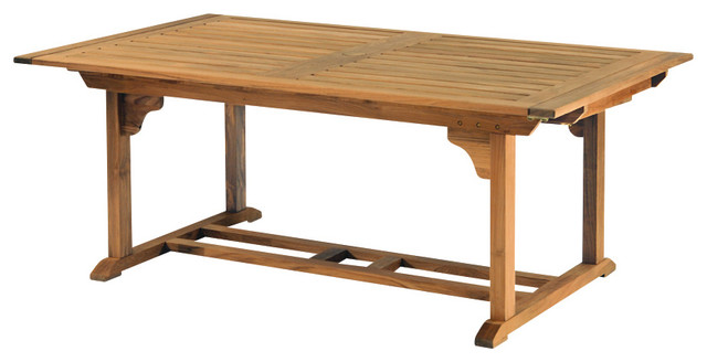 "Essex 74""-106"" Rectangular Extension Table - By Kingsley Bate traditional-outdoor-dining-tables"