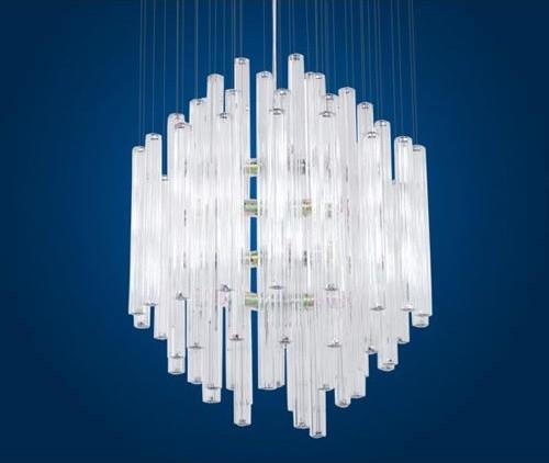 Alexandria Chrome Twelve-Light Pendant modern-pendant-lighting