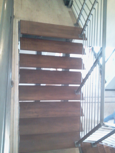 Raney residence contemporary-staircase