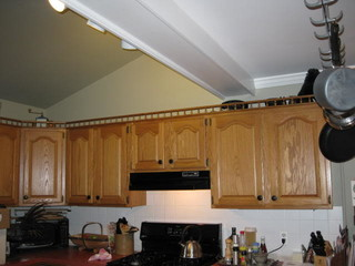 Height Of Uppers In Small Kitchen With Vaulted Ceiling