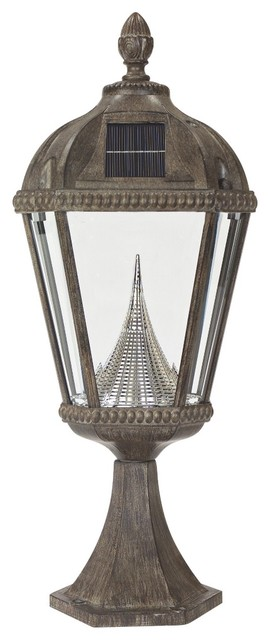Traditional Royal Solar LED Bronze 23 High Outdoor Post Light Traditi