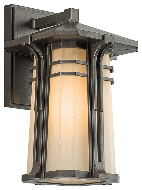 BUILDER North Creek Arts And Crafts Mission Outdoor Wall Sconce X ZO57194 T