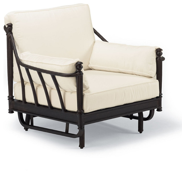 Sorrento Gliding Outdoor Lounge Chair with Cushions - Frontgate, Patio Furniture traditional outdoor chairs