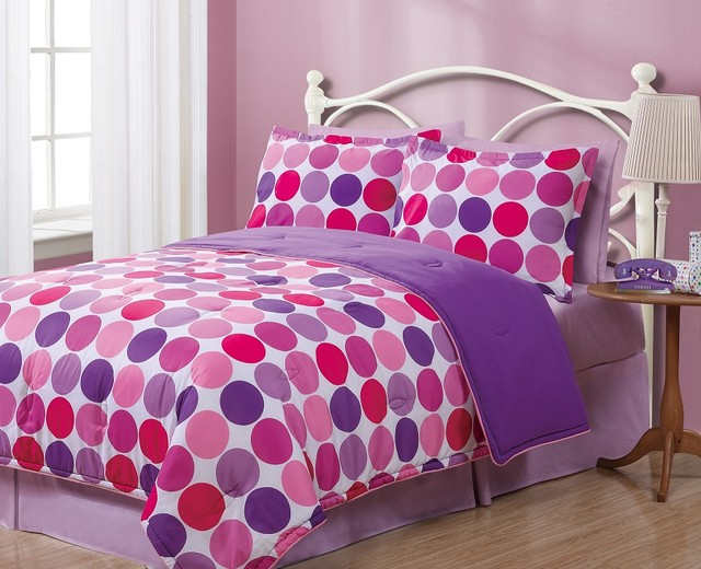 Queen Geo Circles Reversible Comforter Set modern-kids-bedding