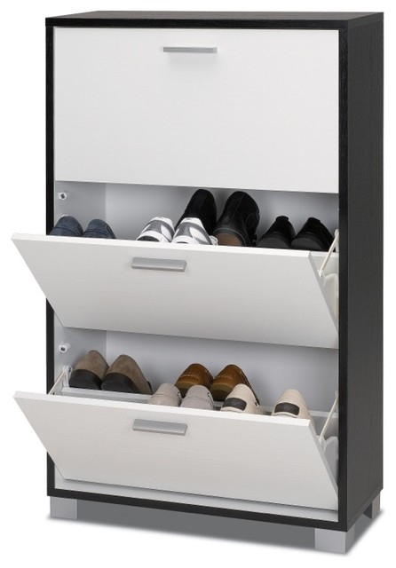 Beautiful Black And White Shoe Organizer Contemporary Closet Storage Other Metro By
