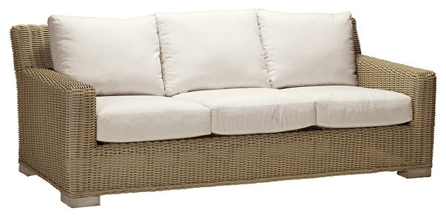 Rustic Outdoor Sofa with Cushions, Patio Furniture traditional-outdoor-cushions-and-pillows