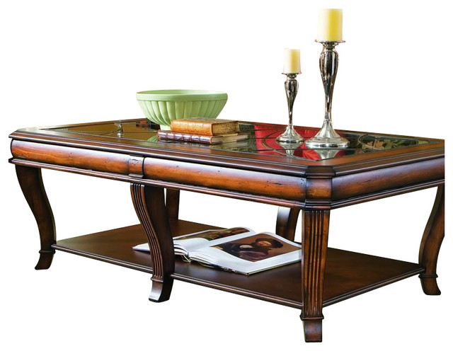 Brookhaven Rectangular Cocktail Table Clear Cherry