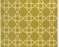 Dhurries DHU548A Olive / Ivory Flat-Woven Area Rug by Safavieh eclectic-rugs