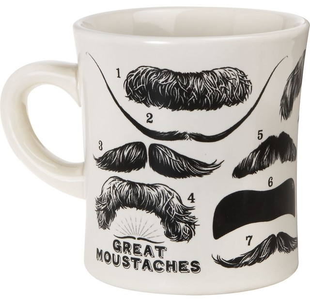 Great Moustaches Mug eclectic-mugs