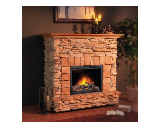 Casaloma - A freestanding fireplace doesn't have to look out of place. Just plug it in, grab your cocoa and relax.