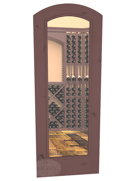 CellarSelect™ Wine Cellar Door: Malbec Full Lite (Walnut Stain with Lacquer) -