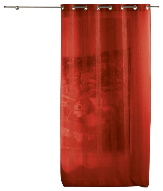 ... Sheer Grommet Curtain Panels Salina Red - Traditional - Curtains - by