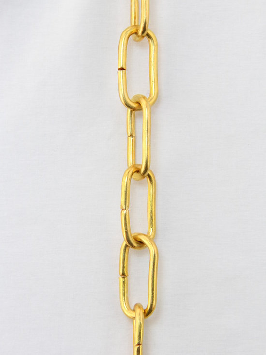 Brass Chandelier Chains - Chain # 23: Heavy Solid Brass Chain with welded links