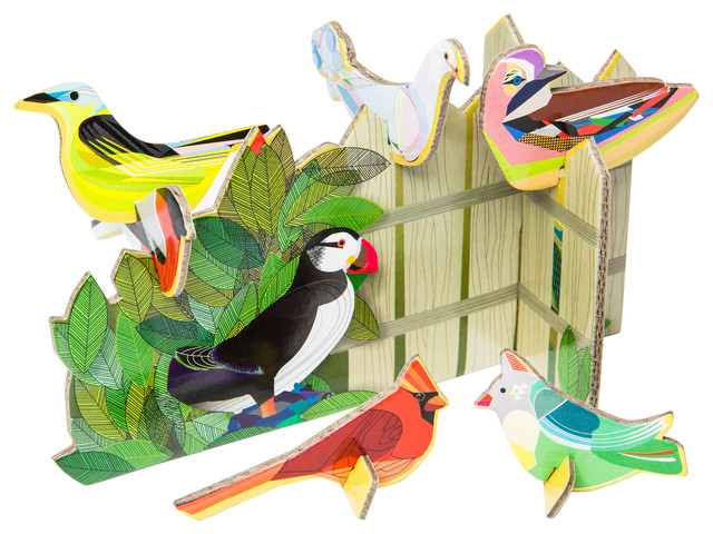 Pop Out Cards: Birds Tweeting contemporary-kids-decor
