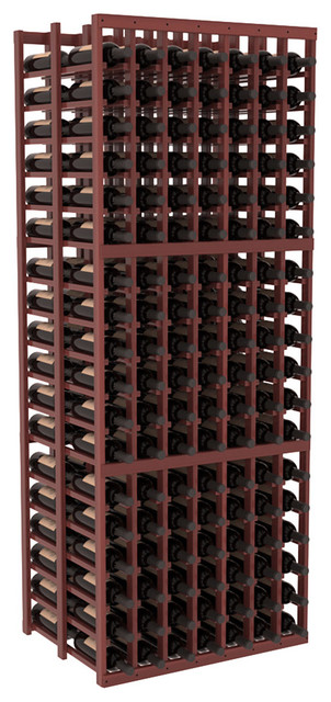 7 Column Double Deep Cellar in Redwood, Cherry + Satin Finish contemporary-wine-racks