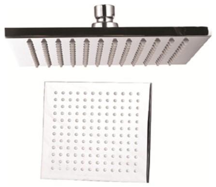 Large 12 Square Rain Shower Head Brushed Nickel Modern Showerheads