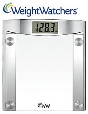 Weight Watchers Glass Precis Elec Scale contemporary-bathroom-scales