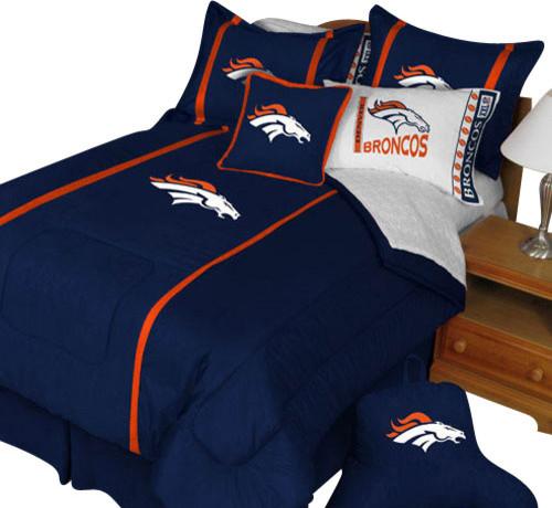 Nfl Denver Broncos Twin Comforter Pillow Sham Mvp Bed Set