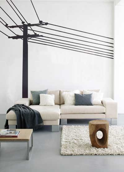 Ferm Living - Power Pole Wall Sticker modern decals