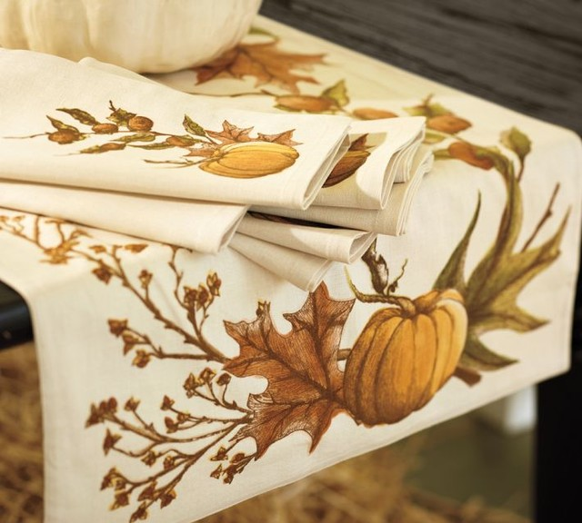 Harvest Pumpkin Table Runner - Contemporary - Table Runners - by Pottery Barn