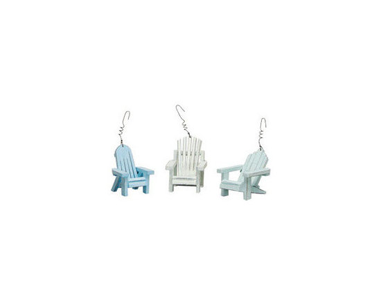 Beach Chair Ornament Set -