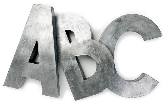 Oversize Zinc Letters contemporary-artwork