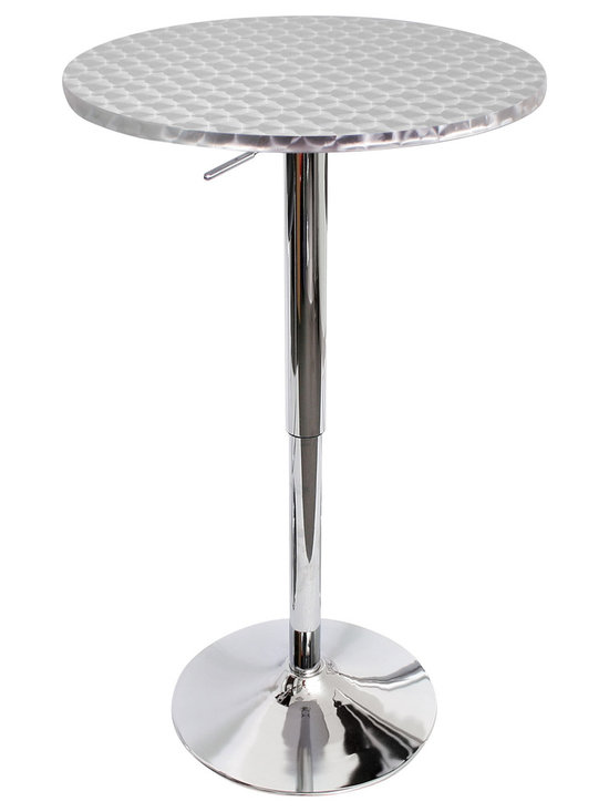 Bristro Bar Table Round - CHROME SWIRL