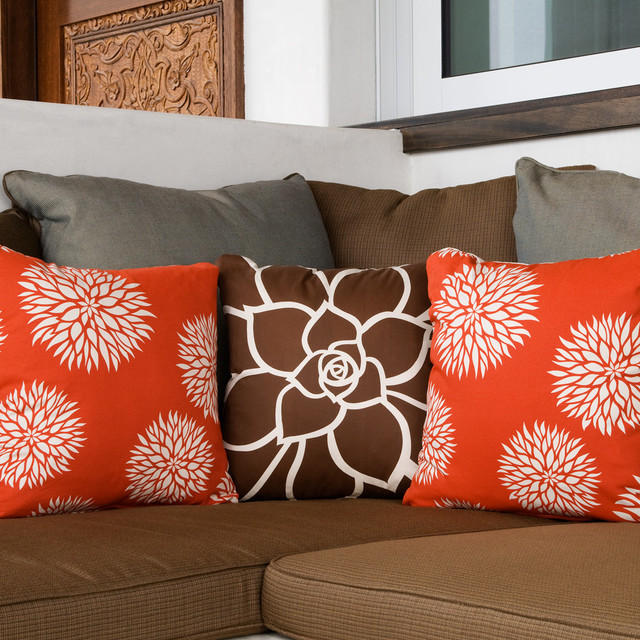 Decorative Pillows For A Tan Couch : Floral Modern Eco Throw Pillows for Couch - Modern - san diego - by Wabisabi Green
