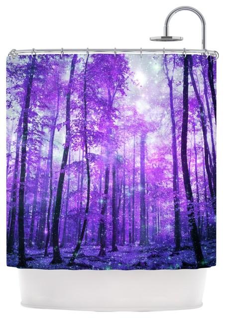 Iris Lehnhardt Quot Magic Woods Quot Purple Forest Shower Curtain