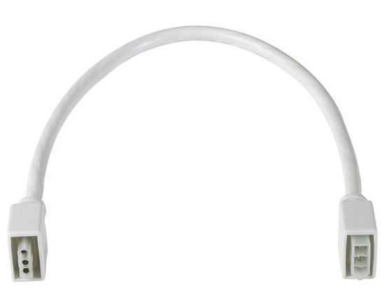 "CSL - CSL Under Cabinet 10"" Long Interconnect Cable - An extension interconnect cable for under cabinet lighting from CSL Lighting. This part allows you to connect two hardwire under cabinet lights together. To be used with CSL Lighting under cabinet lights. White cord. 10"" long.  Interconnect cable for CSL under-cabinet lights.  Male-female connector.  White cord.  By Creative Systems Lighting.  10"" long."