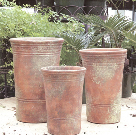 Long Tom Plant Pot Traditional Outdoor Pots And