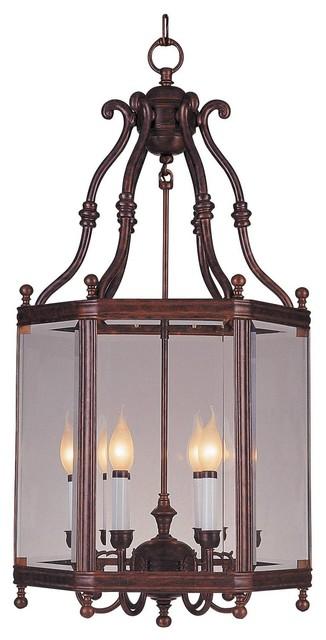 Crystorama Windsor Outdoor Chain Hung Lighting Fixture in Venetian Bronze eclectic-outdoor-lighting