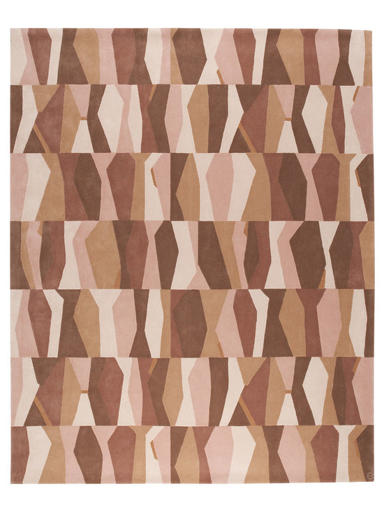 Jazz, Hand-Tufted Wool Rug - A lively and rhythmic design inspired by Jazz music. Hand-tufted with 100% New Zealand wool. Cut pile.