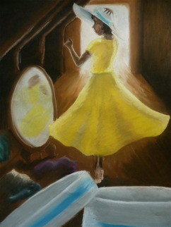 In Yellow Dress Original By Ellie O 39 Connor Contemporary Paintings