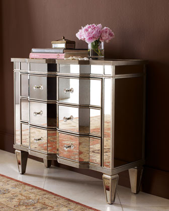 """""""Chelsea"""" Mirrored Chest traditional-accent-chests-and-cabinets"""