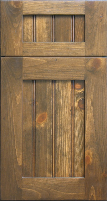 Knotty Pine Shaker Door with Beaded Panel - Rustic - other metro - by Style Line Custom Hardwood ...